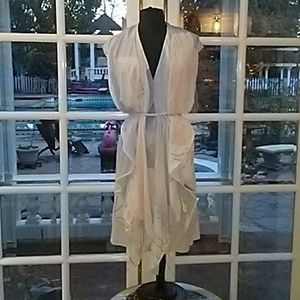Diane Von Furstenberg 100% Silk Tie Around Dress